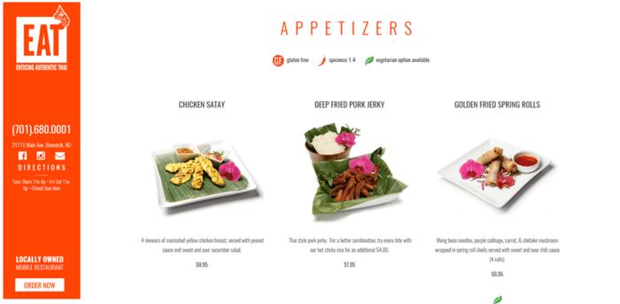 Divi theme examples: Divi restaurant website template example